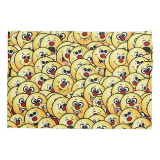 Grumpeys Funny Smiley Faces Set Pillowcase
