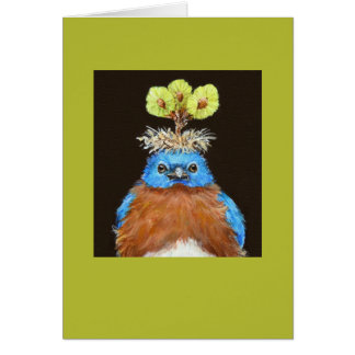 Grumpus the bluebird card