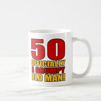 Grumpy 50th Birthday Humor Mugs