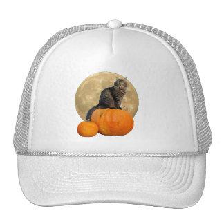 Grumpy Angel Cat and Pumpkins Trucker Hat