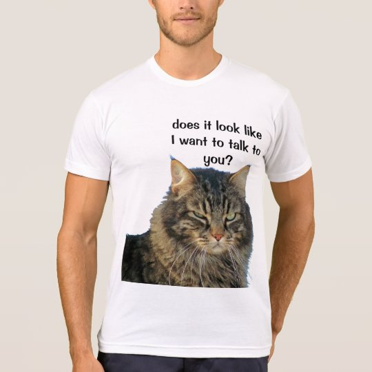 Grumpy Angel does not want to talk. T-Shirt