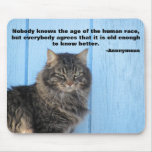 Grumpy Angel with Anonymous Quote Mouse Pad