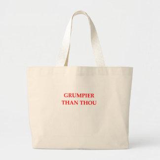 grumpy canvas bags
