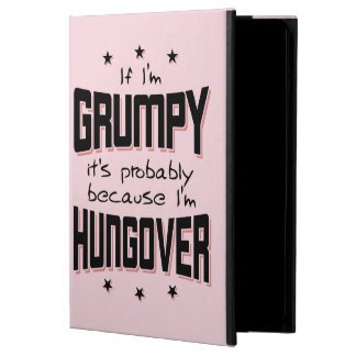 GRUMPY because HUNGOVER (blk) Cover For iPad Air