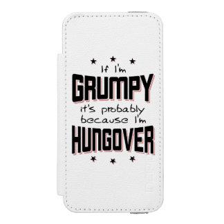 GRUMPY because HUNGOVER (blk) Incipio Watson™ iPhone 5 Wallet Case