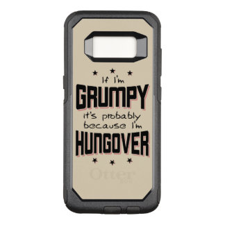 GRUMPY because HUNGOVER (blk) OtterBox Commuter Samsung Galaxy S8 Case