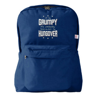 GRUMPY because HUNGOVER (wht) Backpack