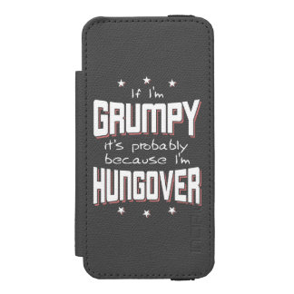 GRUMPY because HUNGOVER (wht) Incipio Watson™ iPhone 5 Wallet Case