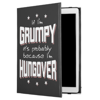 "GRUMPY because HUNGOVER (wht) iPad Pro 12.9"" Case"