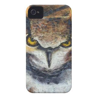 Grumpy Big Ear Owl iPhone 4 Case
