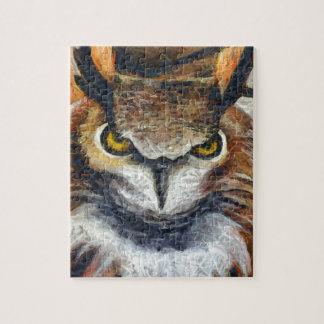 Grumpy Big Ear Owl Jigsaw Puzzle