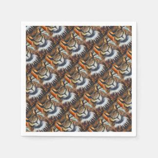 Grumpy Big Ear Owl Paper Napkins