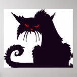 Grumpy Black Cat Poster