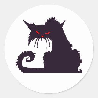 Grumpy Black Cat Stickers