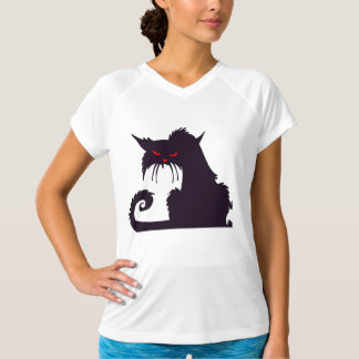 Grumpy Black Cat Womens Active Tee