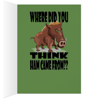 Grumpy Boar Christmas Card. Card