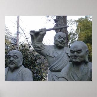 Grumpy Buddha Poster