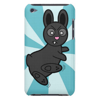 Grumpy Bunny Knows Kung Fu - Blue iPod Touch Cases