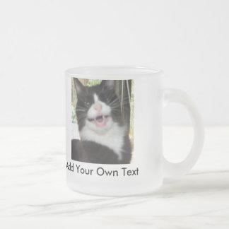 Grumpy Cat 10 Oz Frosted Glass Coffee Mug