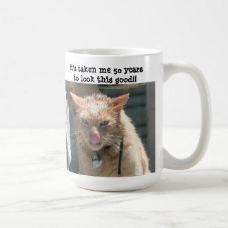 Grumpy Cat, 50 years to look this good! Classic White Coffee Mug