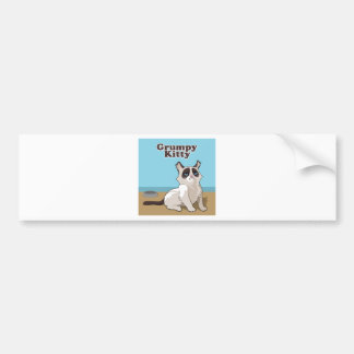 Grumpy cat bumper sticker