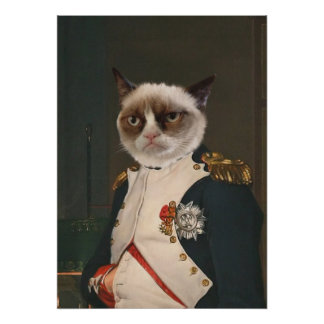 Grumpy Cat Classic Painting Poster