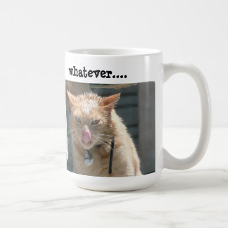 Grumpy Cat Coffee Mug, Whatever.... Classic White Coffee Mug