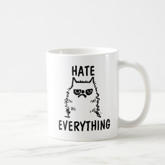 GRUMPY CAT Coffee Mugs, HATE EVERYTHING Coffee Mug