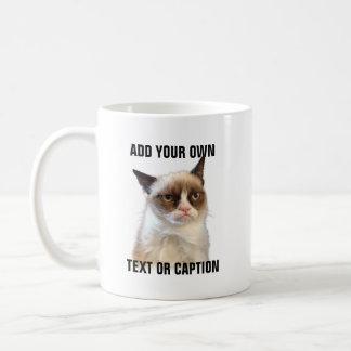 Grumpy Cat Glare - Add your own text Coffee Mug