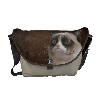 Grumpy Cat Glare Courier Bag