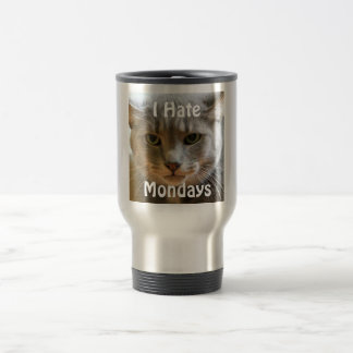 Grumpy Cat Hates Mondays 15 Oz Stainless Steel Travel Mug