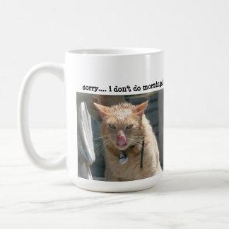 Grumpy Cat, I don't do mornings.... Classic White Coffee Mug