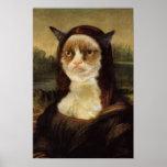 Grumpy Cat Mona Lisa Poster