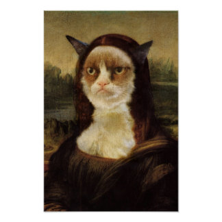 Grumpy Cat Mona Lisa Poster