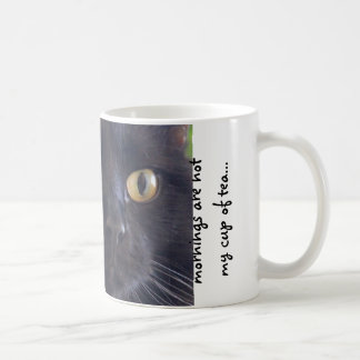 Grumpy Cat, Mornings are not my cup of tea... Basic White Mug