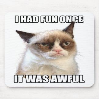 Grumpy Cat Mousepad 'I had fun once. It was awful'