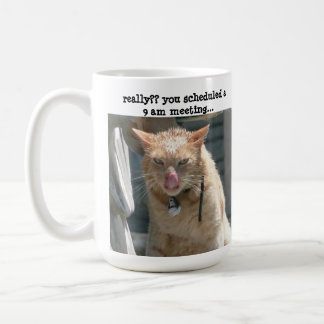 Grumpy Cat, sarcasm, not a morning person! Coffee Mug