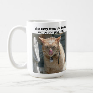 Grumpy Cat, step away from the donuts... Classic White Coffee Mug