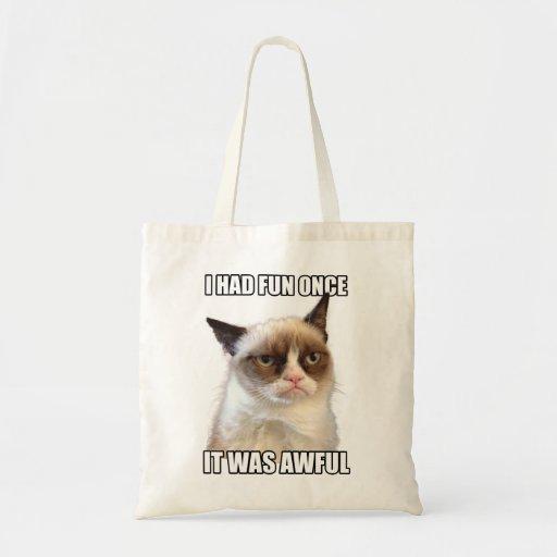 Grumpy Cat Tote Canvas Bags
