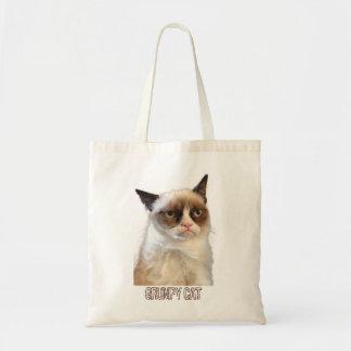 Grumpy Cat Tote - Colour Canvas Bags