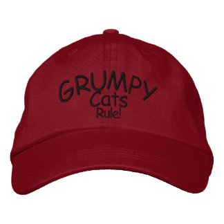 Grumpy Cats Embroidered Hat