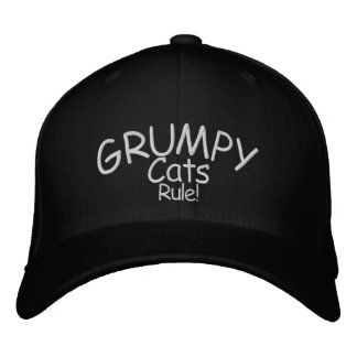 Grumpy Cats Rule! Embroidered Hat