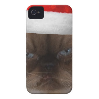 Grumpy Christmas Cat Case-Mate iPhone 4 Case