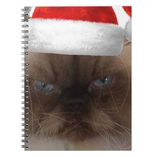 Grumpy Christmas Cat Notebooks
