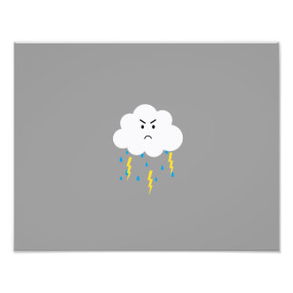 Grumpy cloud with lightnings photograph