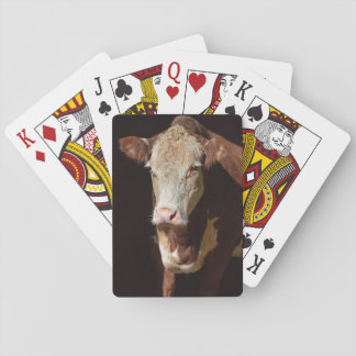 Grumpy Cow Playing Cards