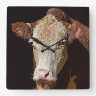 Grumpy Cow Square Wall Clock