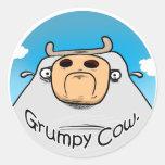 Grumpy Cow Sticker