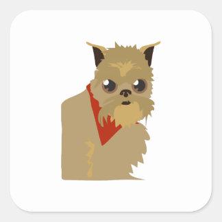 Grumpy Dog Square Stickers