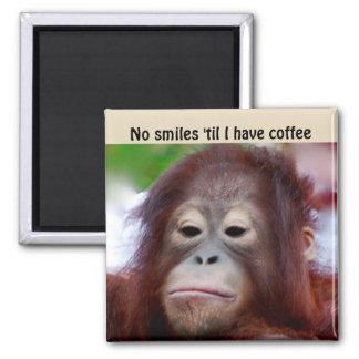 Grumpy Face I Need Coffee Magnet